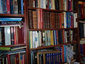 Et lille udsnit af vores bogreoler.