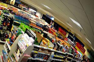 Et supermarked kan være ren kaos